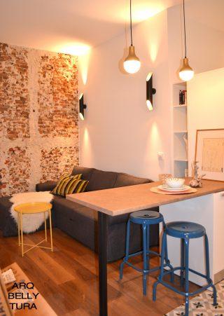 lampara, decoracion, arquitctura, reforma, salón, cocina