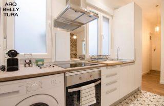cocina, baldosa hidraulica, hall, decoracion, interiorismo, arquitectura, reforma