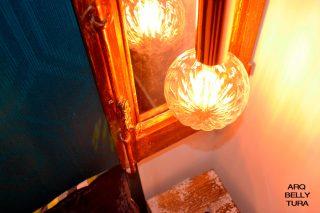 lampara, vintage, cobre, bombilla